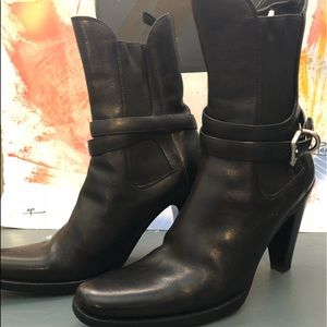 Black booties by PRADA Sz 7
